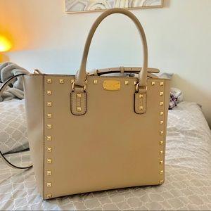 Michael Kors Tan Studded Bag
